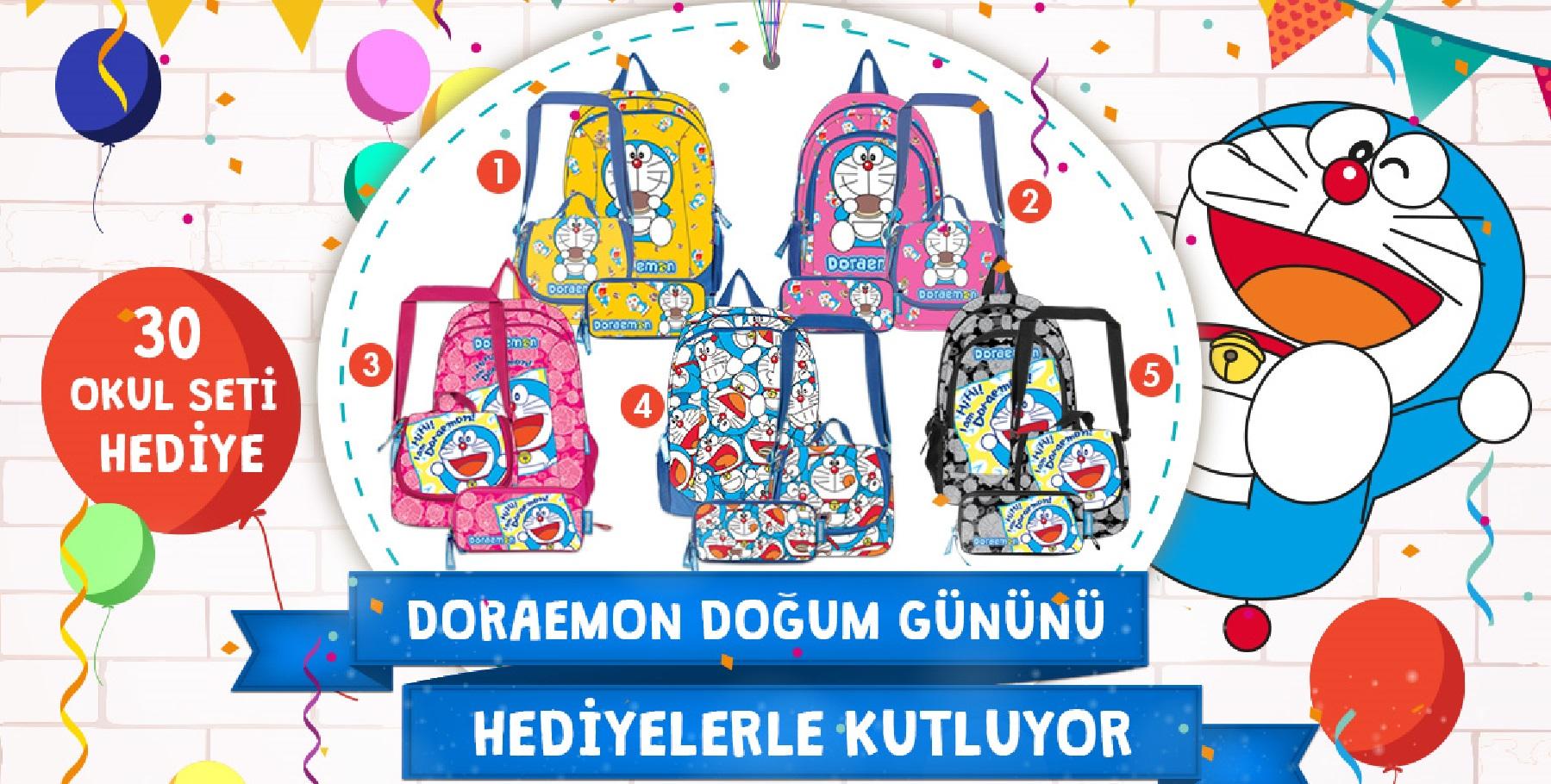 doraemon doğum günü hediyeleri, doraemon çanta